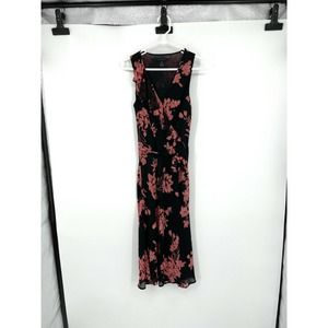The Limited Floral Silk/Polyester Dress Size 4